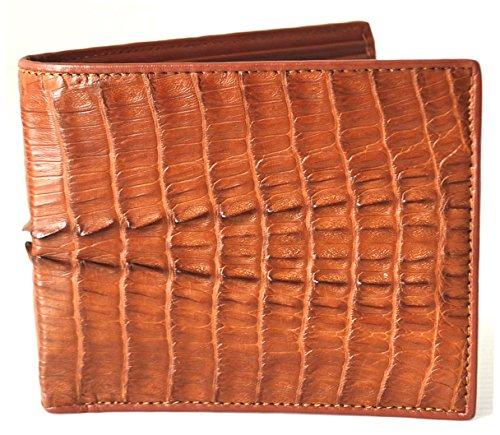 Leather Men's Crocodile Tan Bifold M Wallet Tail Skin Authentic Skin Crocodile 4cOqB14ya
