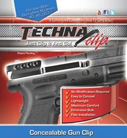 Techna Clip – Springfield Armory XD  9MM  40  45 - Conceal Carry Belt Clip  (Ambidextrous)