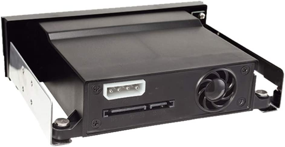 SATA Internal Tray-Less Mobile Rack Compatible with 2.5 or 3.5 SSD HDD Hard Drive Backplane Enclosure