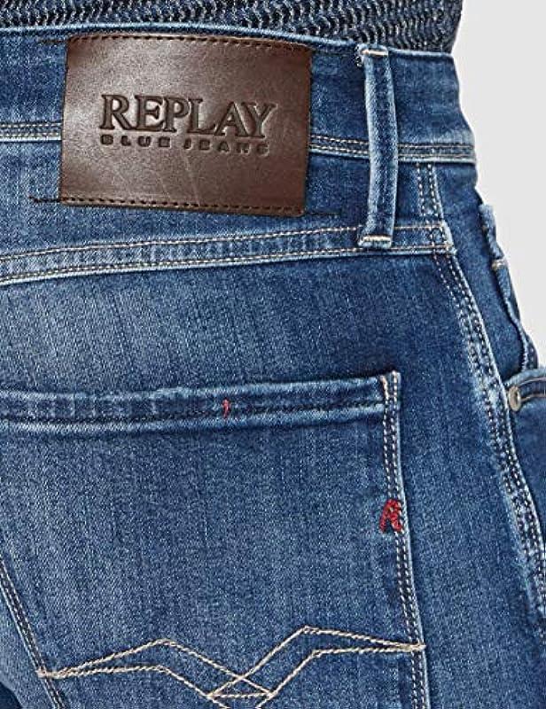 Replay męskie dżinsy Anbass - 34W / 32L: Odzież