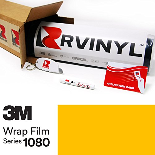 3M 1080 G15 GLOSS BRIGHT YELLOW 5ft x 18ft W/ Application Kit Vinyl Vehicle Car Wrap Film Sheet - Tint G15