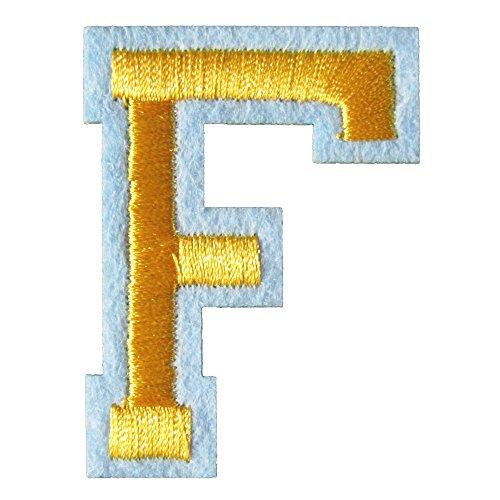 アイロンワッペン アルファベット F 金の商品画像
