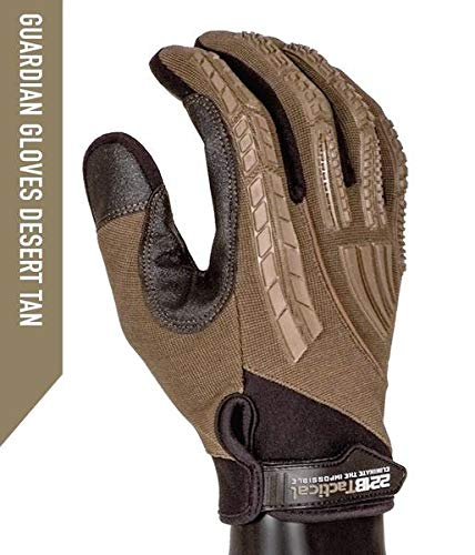 Guardian Glove - Police Tactical Shooting Search Level 5 Cut Resistant Glove (Desert Tan, L)