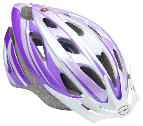 Schwinn Thrasher Bike Helmet, Lightweight Microshell Design, Youth, Purple/White