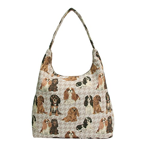 Charles KGCS HOBO Hobo Beach Tapestry Cavalier Dog Shoulder Zip King Signare Women Bag Top Spaniel xIzYOw6wq