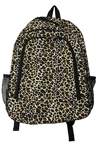 16-Inch Multipurpose Backpack | Children School Backpack Bag (Leopard)