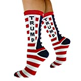 Republican Statement Socks Donald Trump American Flag Pattern Unisex Adult Crew Fashion Novelty Socks (Large)