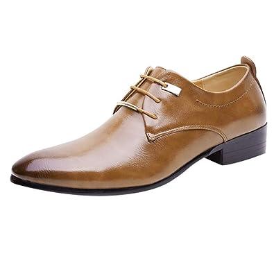 ALIKEEY Moda Hombres Negocio Los Zapatos De Cuero Casual ...