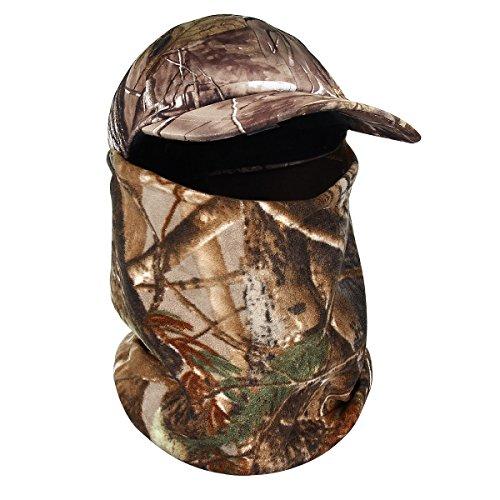 Evaliana Camouflage Balaclava Hat Hunting Thermal Fleece Hood Full Face Cap Head Mask