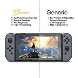 BORAZI Tempered Glass Screen Protector for Nintendo Switch 2017 (2-Pack),9H Hardness Scratch-proof, Eye Protection Anti-Glare Blue, Anti-Fingerprint, Bubble Free & High Transparency