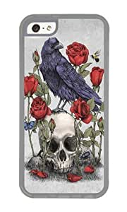 Apple Iphone 5C Case,WENJORS Awesome Memento Mori Soft Case Protective Shell Cell Phone Cover For Apple Iphone 5C - TPU Transparent