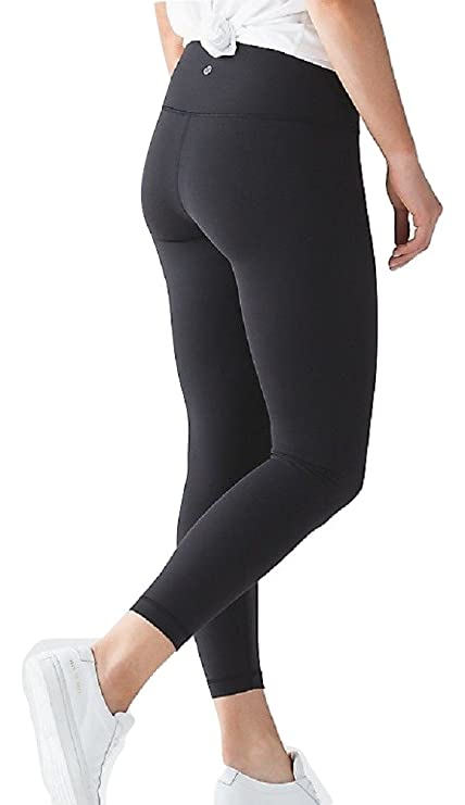 Lululemon High Times Pant Full On Luon 7/8 Yoga Pants (Black, 10)