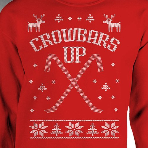 Home Alone Ugly Christmas Sweater Crowbars Up Wet Bandits Funny Movie Marv Harry Cross Stitch by SundayBest