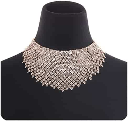 541621f09 Holylove 2 Color Chunky Choker Statement Necklace for Women Daily Party Jewelry  1pc with Gift Box
