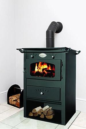 Morley 8 kW de acero prensado Log quemador estufa de leña quemadores de madera diseño de, Reino Unido: Amazon.es: Bricolaje y herramientas