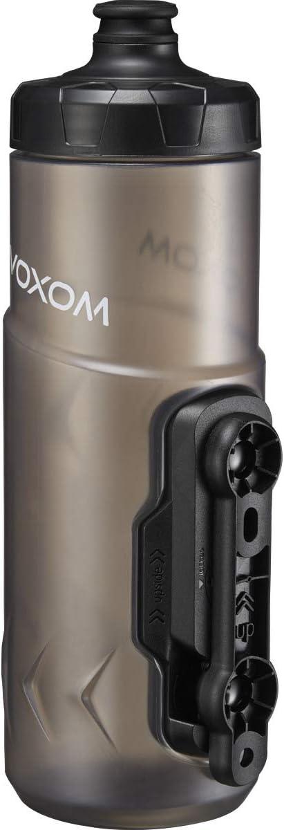 Voxom F5 - Botella de agua (600 ml), color negro y transparente