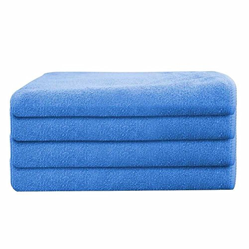 GHP 120-Pcs Blue 16''x16'' Professional Grade 330 GSM Microfiber Cloth Cleaning Towels by Globe House Products