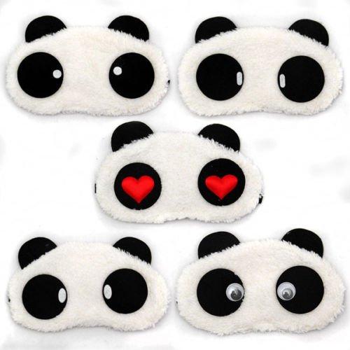 1 X Panda Gesichts Augen Pluesch Masken Augenbinde Schlafbrille Reise Schlafen Schlafmaske Unbekannt