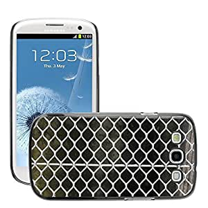 Hot Style Cell Phone PC Hard Case Cover // M00152917 Grid Metal Drawn Steel Grid // Samsung Galaxy S3 S III SIII i9300