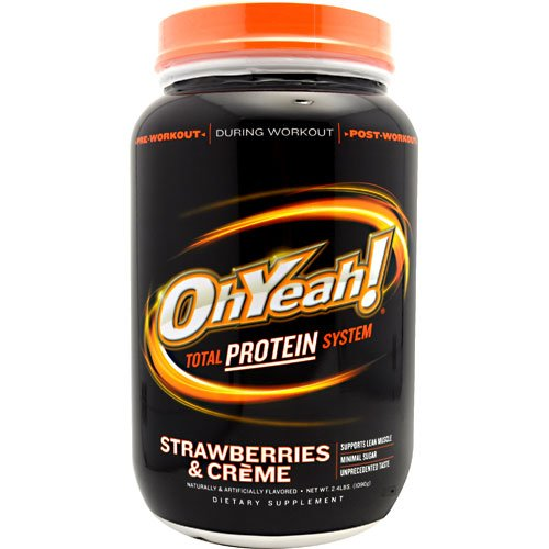 Cheap Iss Protein Supplements Oh Yeah Strawberry 2.4lb
