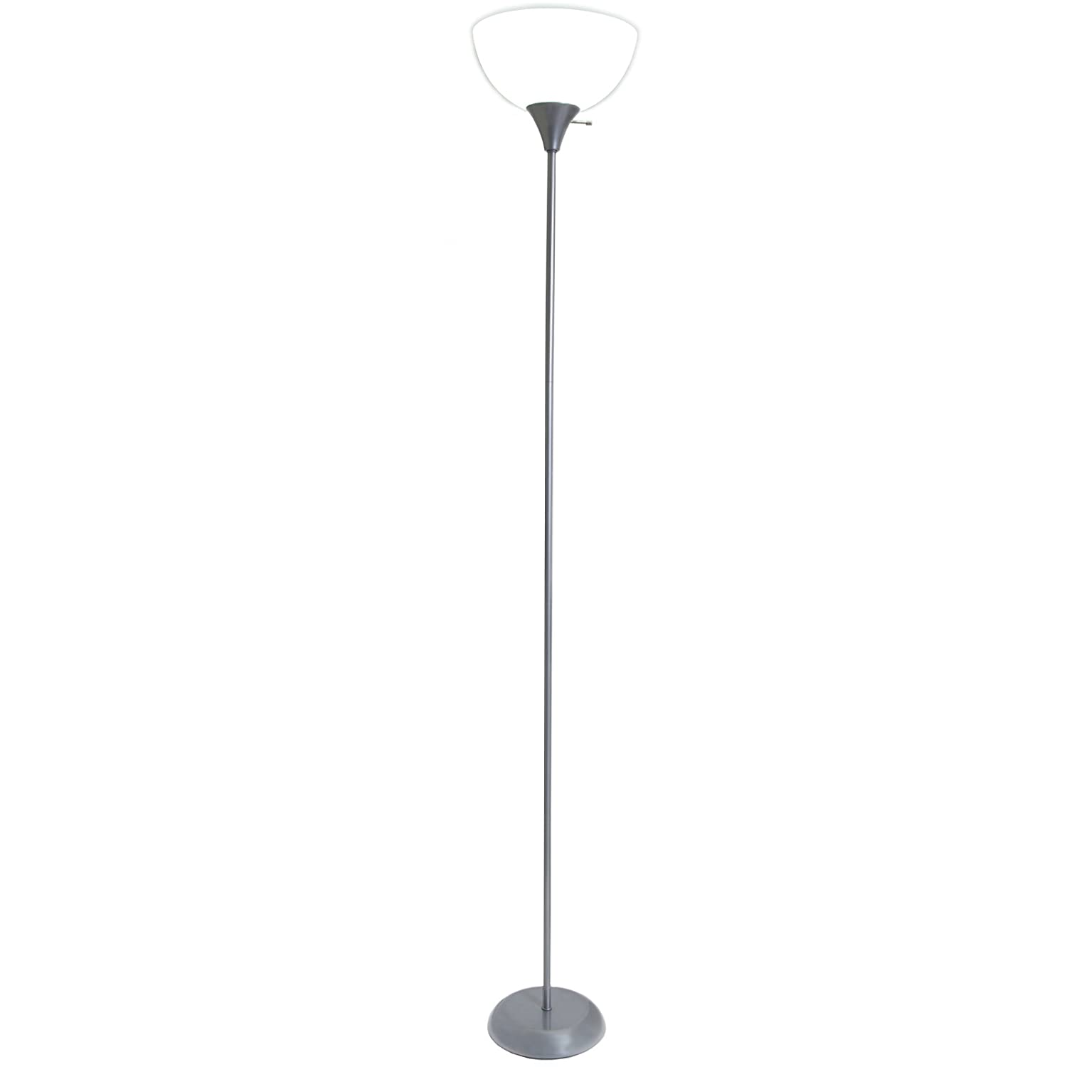 living accents torchiere floor lamp a silver finish   - living accents torchiere floor lamp a silver finish    amazoncom