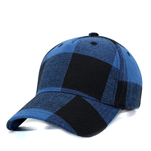 - Zoylink Mens Baseball Cap Adjustable Hat Plaid Pattern Sun Golf Cap for Outdoor