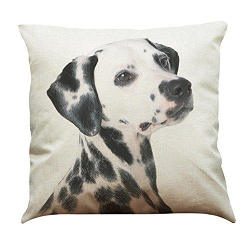 Price comparison product image Pillow Slip, Meyerlbam Pet Dog Animal Cotton Linen Cute Throw Pillow Case Cushion Cover (S,  H)