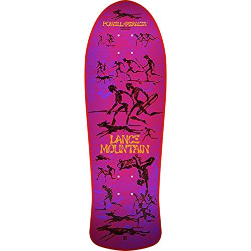 試してみる肝平手打ちBones Brigade Skateboards Lance Mountain 10thシリーズレッドOld Schoolスケートボードデッキ – 10