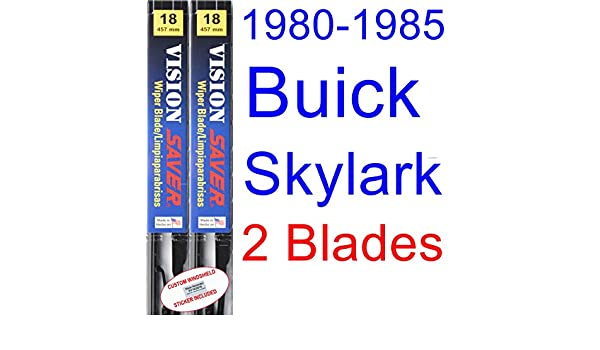 Amazon.com: 1980-1985 Buick Skylark Replacement Wiper Blade Set/Kit (Set of 2 Blades) (Saver Automotive Products-Vision Saver) (1981,1982,1983,1984): ...