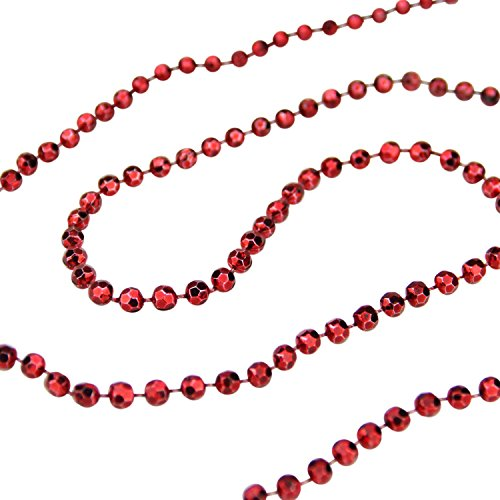 St. Nick's Choice Shiny Metallic Faceted Crimson Red Beaded Christmas Garland 15' x 6mm by St. Nicks Choice