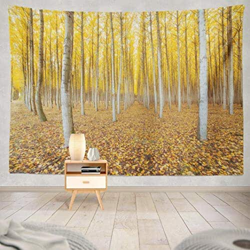 Deronge Tapestry Wall Hanging Tree Farm Fall Season Agriculture America Autumn Botanical Tapestry Wall Art Decor 60x80 Inch Wall Tapestry for Men Bedroom Home Decor Decorative Tapestry Dorm