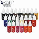 23Pcs/Pack DLD Eyebrow&eyeliner& lip Permanent Makeup Tattoo ink brand Micro pigment Lasting Long 15ml cosmetics supply
