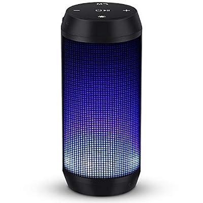 Cassa Bluetooth Altoparlante Speaker Portatili Radio Stereo Hi-Fi Bassi Potenti Luce LED Wireless Radio FM Scheda TF Chiamata Vivavoce Microfono Incorporato Batteria Litio USB ELEHOT