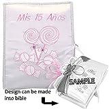 Select Quinceanera Photo Album Guest Book Kneeling Tiara Pillows Bible Q3156 (Spanish bible)