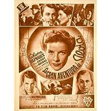 1936 Ad Movie Gran Aventura de Silvia Sylvia Scarlett George Cukor Spanish Film - Original Print Ad