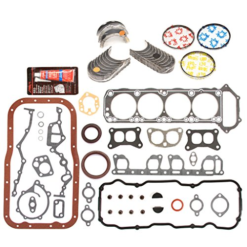Bearing Main Set Pickup (Evergreen Engine Rering Kit FSBRR3001EVE\0\0\0 83-88 Nissan Pickup 720 D21 Pathfinder Z24 Full Gasket Set, Standard Size Main Rod Bearings, Standard Size Piston Rings)