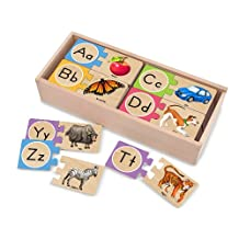 Melissa & Doug 12541 Self-Correcting Wooden Number Puzzles With Storage Box (52 pieces)