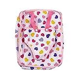 MonkeyJack Pink Heart Printed Baby Doll Carrier Backpack for 18'' American Girl Doll Girls Gift