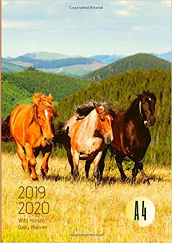 2019-2020 Back To School Planner With Hours Wild Horses ...