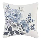 Laura Ashley Chloe Throw Pillow, 16x16, Pastel Blue