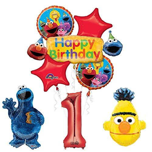 (The Ultimate Sesame Street and Friends 1st Birthday Supplies Decorations Balloon kit)