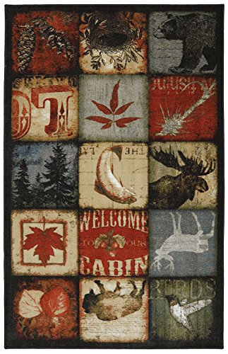 Mohawk Home Escape Lodge Patches Multi Rug, 8'x10'- Family Room Ideas - Make quick & easy changes to any room in your home in minutes by changing the rug - add color & patterns