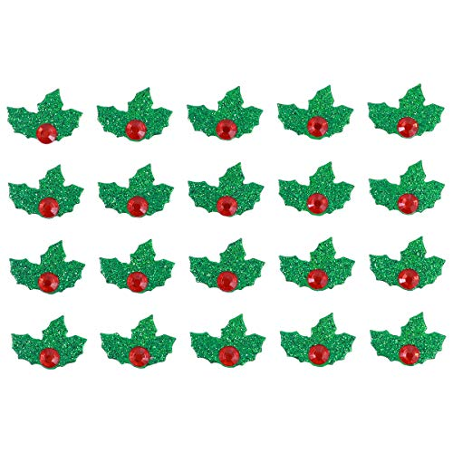 TINKSKY St. Patrick's Day Decoration Green and Red Christmas Holiday Holly Leaves Stickers DIY Christmas Decorative Stickers 5 -