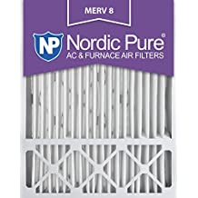 Nordic Pure 20x25x5 Honeywell Replacement MERV 8 Furnace Air Filter, Quantity 4