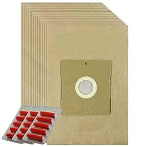 Spares2go fuertes bolsas de polvo para Aldi DIV109ks5123ks6122aspiradora (lote de 15+ 15ambientadores)