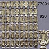 Rasp Small Paper Lyra Lace, 13 x 23 mm, Other, Gold, One Size