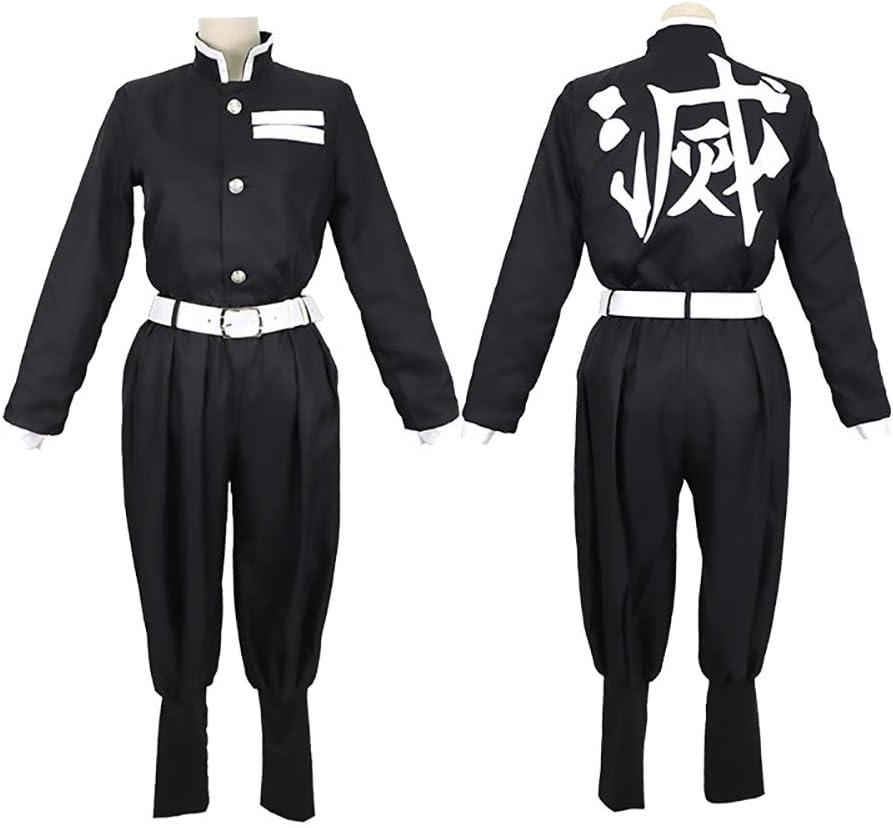 Kimetsu No Yaiba Kamado Tanjirou Cosplay Costume Kimono Japonais Ensemble De Robe De Carnaval dhalloween Erwin.S Anime Demon Slayer