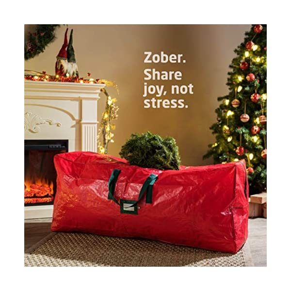 Fits Up to 9 ft Tall Holiday Artificial Disassembled Trees,Xmas Storage Container with Handles Dual Zipper,Waterproof Material Protects from Dust,Moisture,Insect Large Christmas Tree Storage Bag