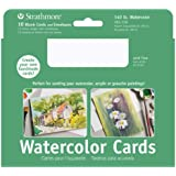 """Strathmore Watercolour Cards and Envelopes White Cold Press (5"""" x 6.875"""")"""