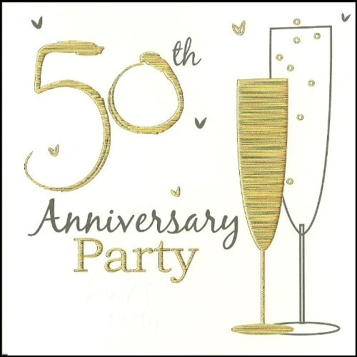 50th golden wedding anniversary party invitations holographic 6 50th golden wedding anniversary party invitations holographic 6 cards with envelopes amazon toys games stopboris Image collections